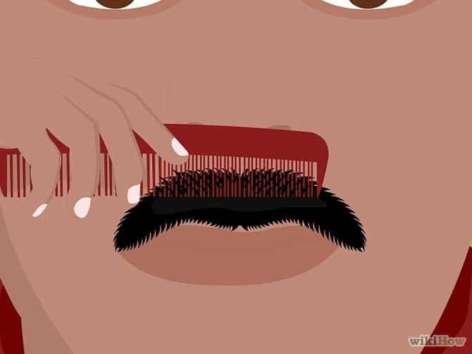 hoe je snor trimmen stap 4