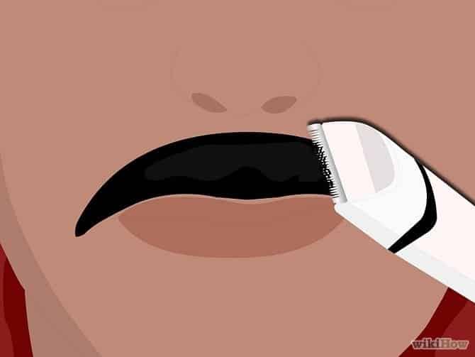 hoe je snor trimmen stap 6